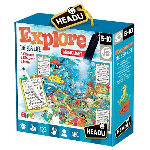 HEADU Explore The Sea Life Magic Light Kids Children Educational Jigsaw Puzzle